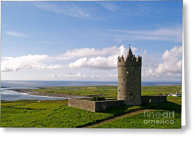 Doonagore Castle Greeting Card by Alex Cassels