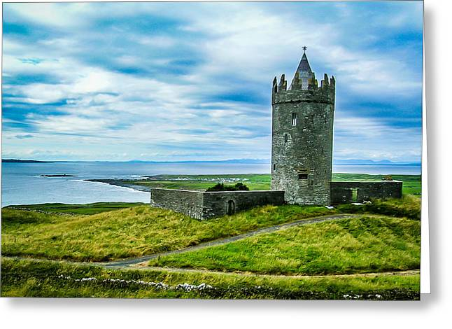 Doonagore Castle In Ireland's County Clare Greeting Card by James Truett