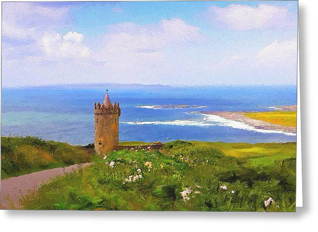 Doonagore Castle Greeting Card by Michael Walsh