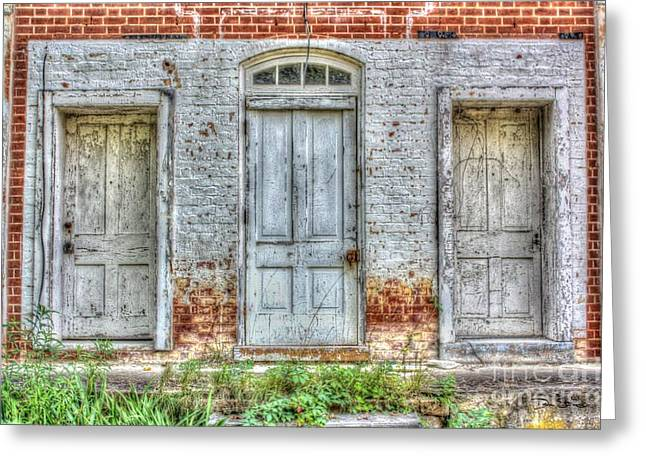 Industrial Concept Greeting Cards - Door #1 #2 or #3 Greeting Card by Dan Stone