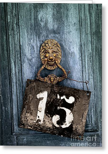 Door 15 Greeting Card by Carlos Caetano