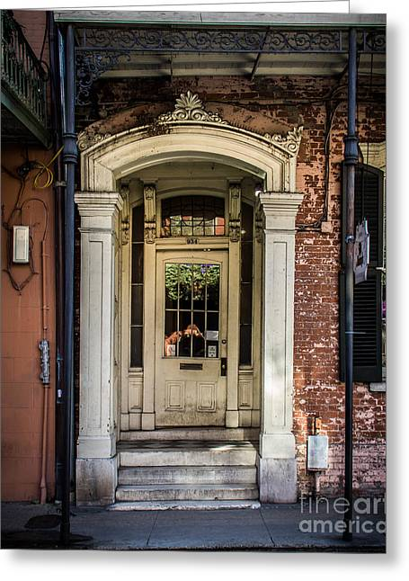 Historical Pictures Digital Art Greeting Cards - Door 934 Greeting Card by Perry Webster