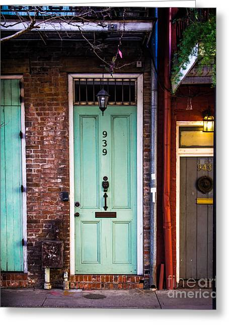 French Doors Digital Art Greeting Cards - Door 939 Greeting Card by Perry Webster