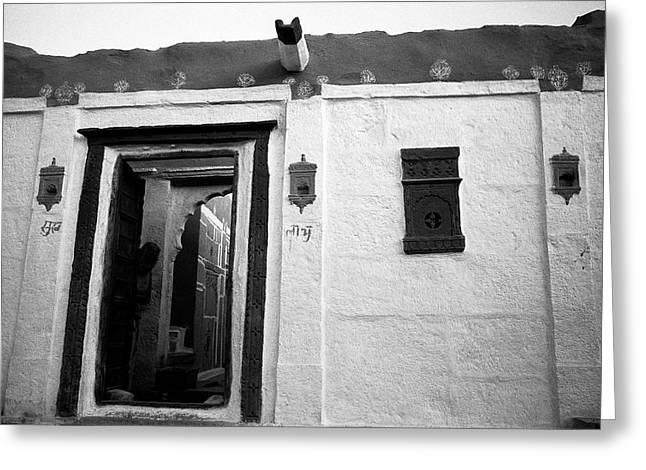 Door And Alcoves Greeting Card by Jagdish Agarwal