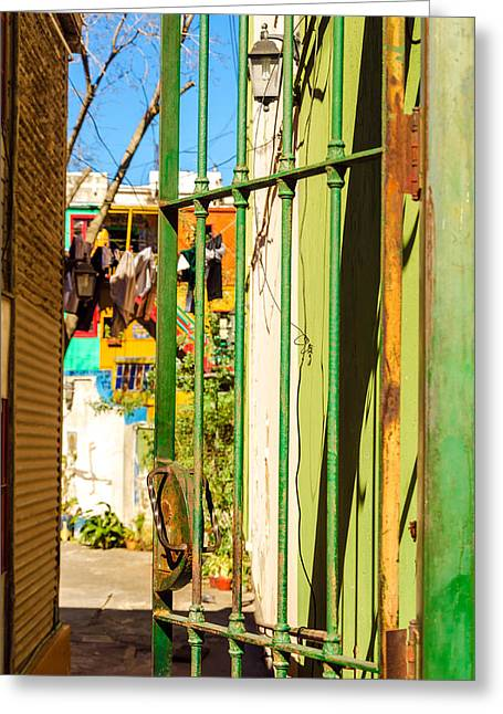 Latino Culture Greeting Cards - Door and Patio Greeting Card by Jess Kraft