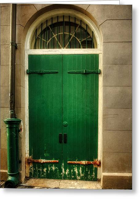 French Doors Greeting Cards - Door And Pipe Greeting Card by Chrystal Mimbs