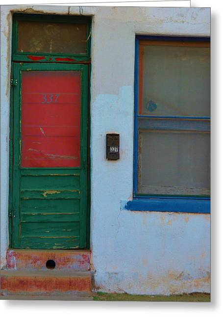 Screen Doors Greeting Cards - Door and Window Greeting Card by Richard Jenkins