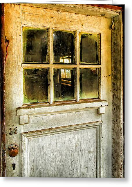 Door Knob Greeting Cards - Door And Windows Greeting Card by Theresa Tahara
