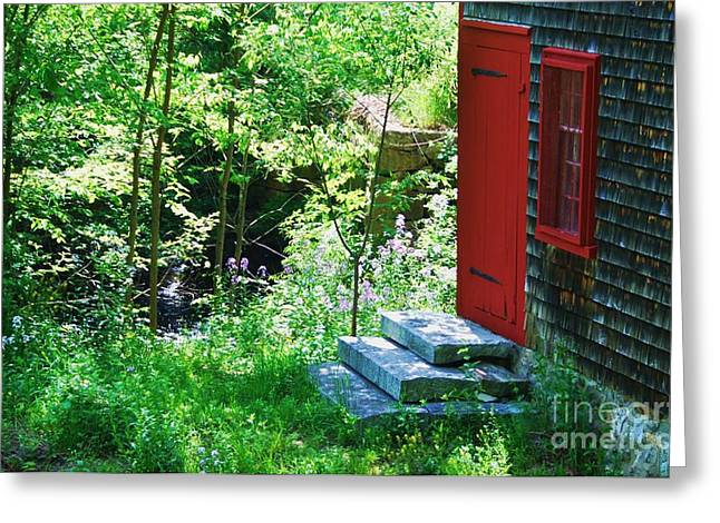 Door At The Grist Mill Greeting Card by Marcus Dagan