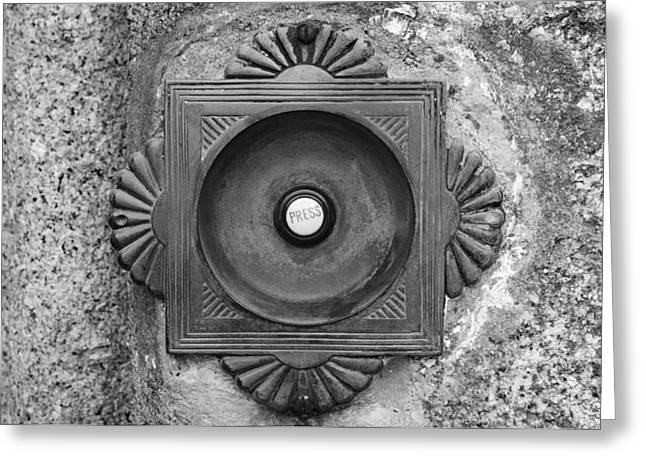 Doorbell Greeting Cards - Door Bell Greeting Card by Chevy Fleet