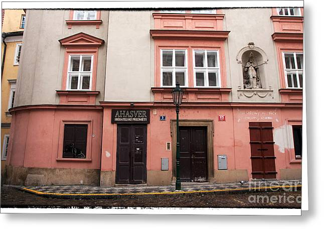 Door Choices In Prague Greeting Card by John Rizzuto