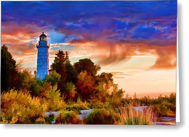 Fresnel Greeting Cards - Door County Cana Island Wisp Greeting Card by Christopher Arndt