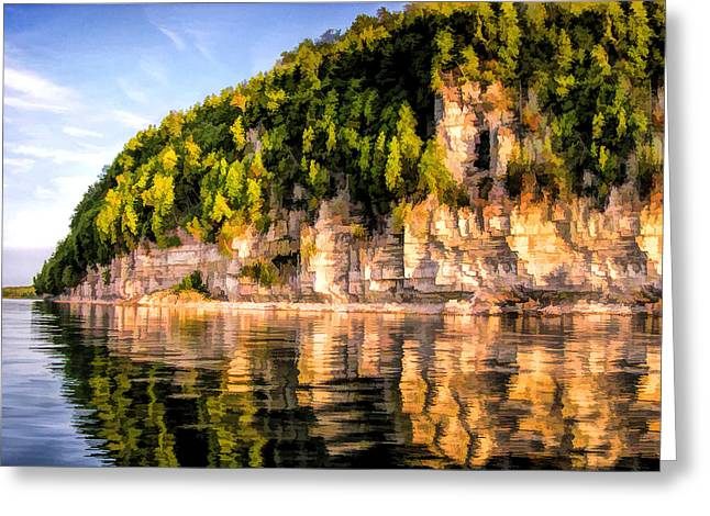 Escarpment Greeting Cards - Door County Ellison Bay Bluff Greeting Card by Christopher Arndt