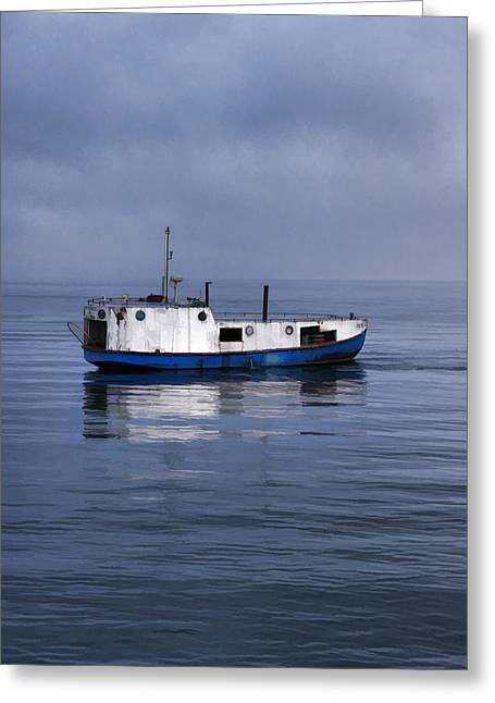 Gills Rock Greeting Cards - Door County Gills Rock Trawler Greeting Card by Christopher Arndt