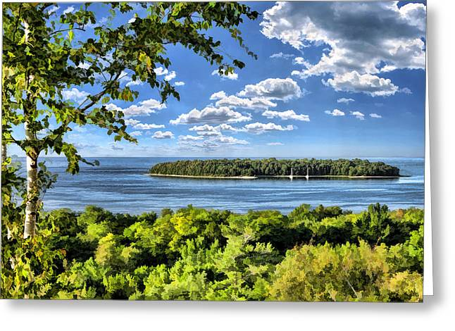 Door County Horseshoe Island Greeting Card by Christopher Arndt