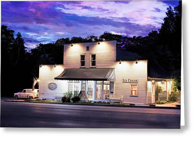 Small Towns Greeting Cards - Door County Ice Cream Factory Greeting Card by Christopher Arndt