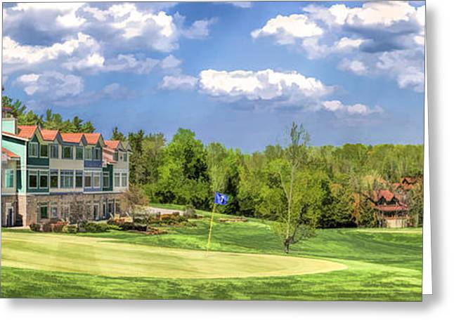 Door County Greeting Cards - Door County Little Sweden Resort Golf Course Panorama Greeting Card by Christopher Arndt