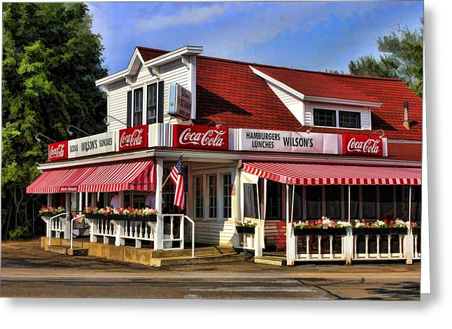 66 Greeting Cards - Door County Wilsons Ice Cream Store Greeting Card by Christopher Arndt