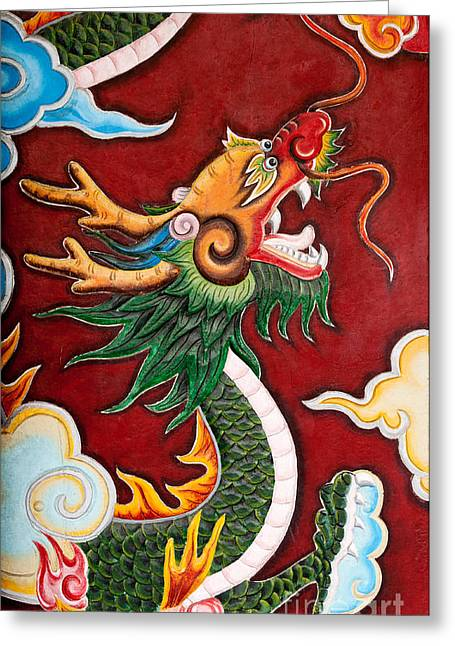 Quan Greeting Cards - Door Dragon 02 Greeting Card by Rick Piper Photography