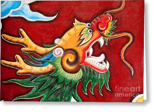Quan Greeting Cards - Door Dragon 03 Greeting Card by Rick Piper Photography