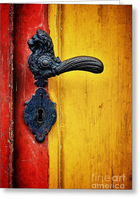 Greeting Cards - Door Handle Greeting Card by Martin Dzurjanik