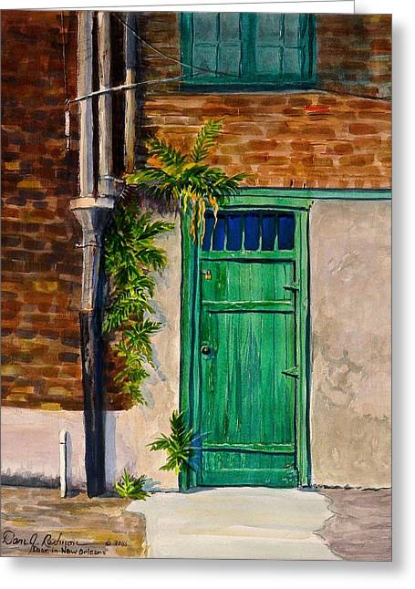 Moss Sculptures Greeting Cards - Door in New Orleans Greeting Card by Dan Redmon