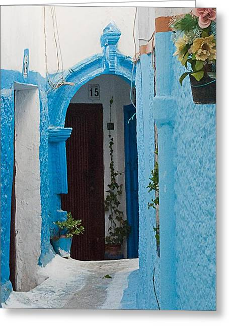 Rabat Greeting Cards - Door in Rabat Greeting Card by Peggy Blackwell