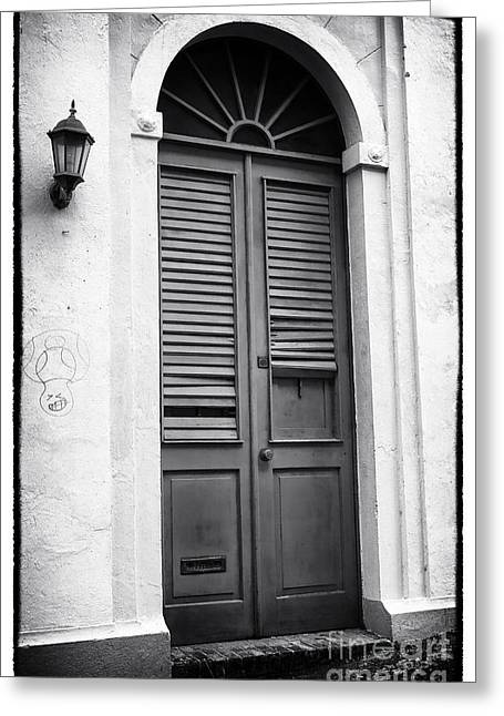 Old San Juan Greeting Cards - Door in San Juan Greeting Card by John Rizzuto