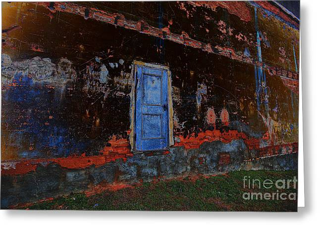 Conscious Digital Art Greeting Cards - Door Greeting Card by Jonathan Welch