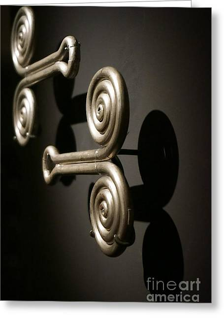 Door Knob Greeting Cards - Door Knobs Greeting Card by Ellen Cotton