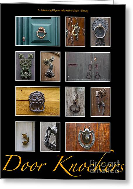 Architectural Design Greeting Cards - Door Knockers 4 Greeting Card by Heiko Koehrer-Wagner