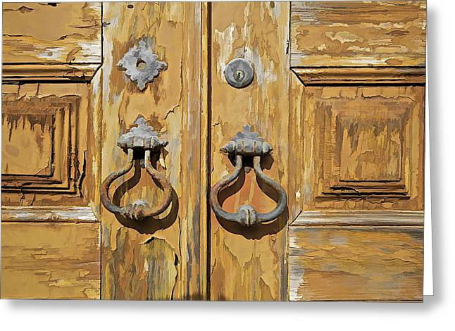 Hand Made Greeting Cards - Door Knockers of Portugal Greeting Card by David Letts