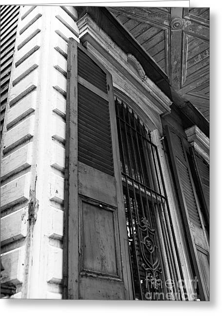 Old Door Print Greeting Cards - Door mono Greeting Card by John Rizzuto