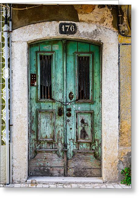 Old Door Greeting Cards - Door No 176 Greeting Card by Marco Oliveira