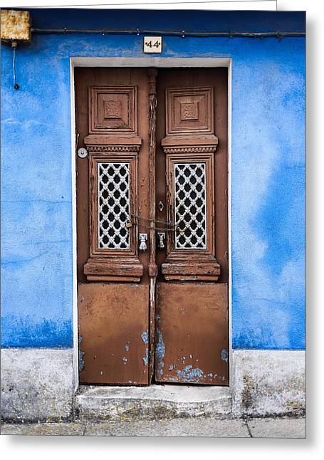 Historic Home Greeting Cards - Door No 44 Greeting Card by Marco Oliveira