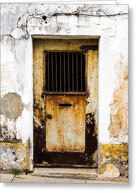 Old Door Greeting Cards - Door No 48 Greeting Card by Marco Oliveira