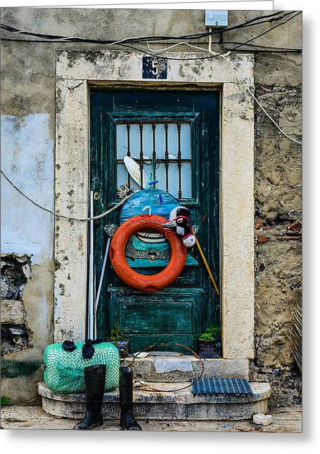 Old Door Greeting Cards - Door No 5 Greeting Card by Marco Oliveira
