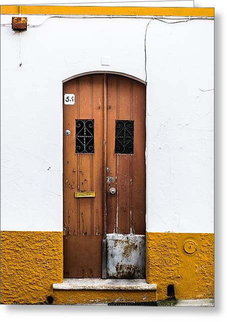 Historic Home Greeting Cards - Door No 55 Greeting Card by Marco Oliveira