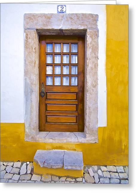 Medieval Entrance Greeting Cards - Door Number Two Greeting Card by David Letts