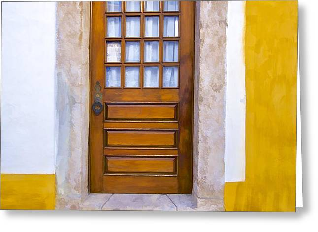 Door Number Two Greeting Card by David Letts