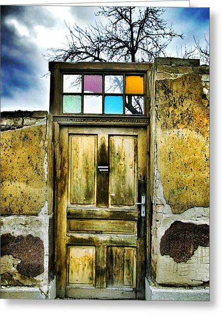 Glass Wall Greeting Cards - Door of Lost Dreams Greeting Card by Marianna Mills