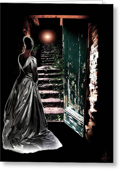 Evening Dress Digital Greeting Cards - Door of Opportunity Greeting Card by Pennie  McCracken