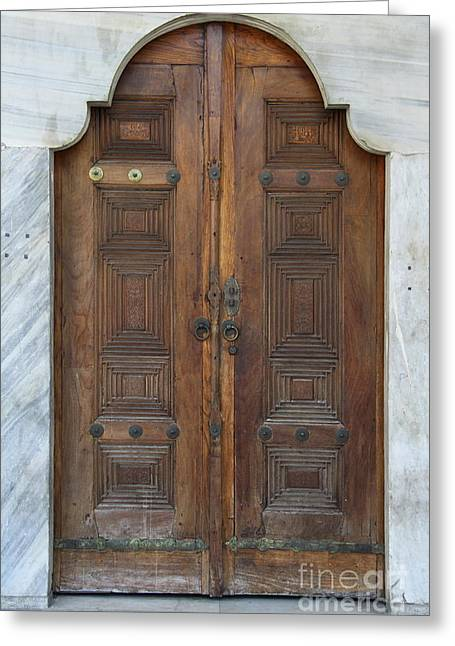 Door Of The Topkapi Palace - Istanbul Greeting Card by Christiane Schulze Art And Photography