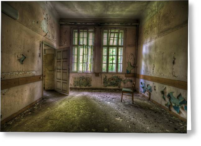 Haunted House Digital Greeting Cards - Door on to chair Greeting Card by Nathan Wright