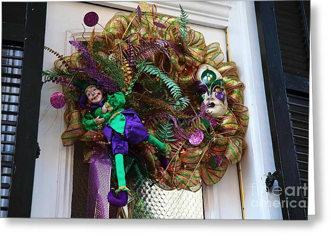 Jesters Puppet Greeting Cards - Door Party Greeting Card by John Rizzuto