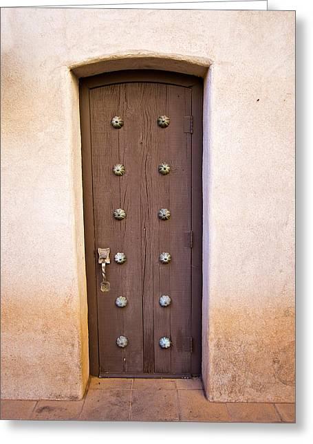 Entrance Door Greeting Cards - Door Greeting Card by Paul Fell