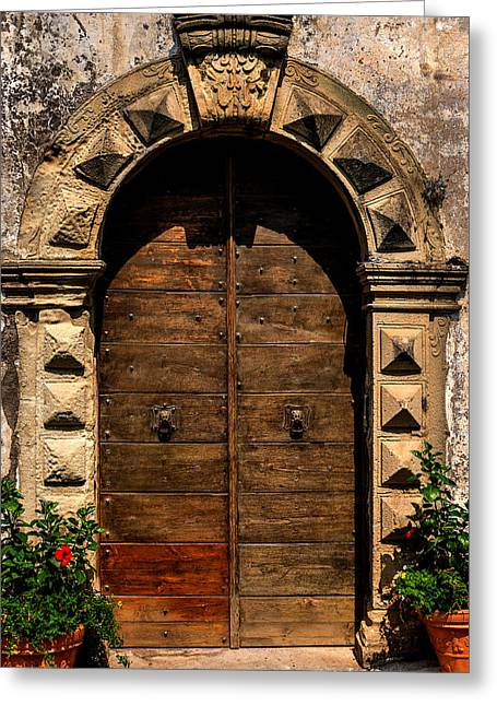 Stone-work Greeting Cards - Door Positano Italy Greeting Card by Xavier Cardell