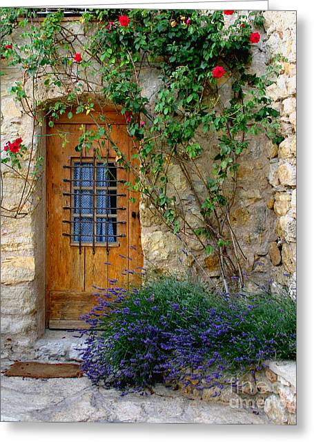 Recently Sold -  - French Doors Greeting Cards - Door, Provence Greeting Card by Holly C. Freeman