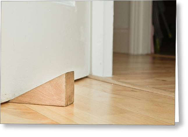 Stopper Photographs Greeting Cards - Door stopper Greeting Card by Tom Gowanlock