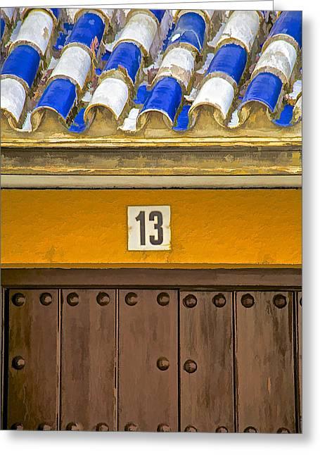 Entranceway Greeting Cards - Door Thirteen of Spain II Greeting Card by David Letts
